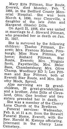 Pittman, Mary Diltz 1966
