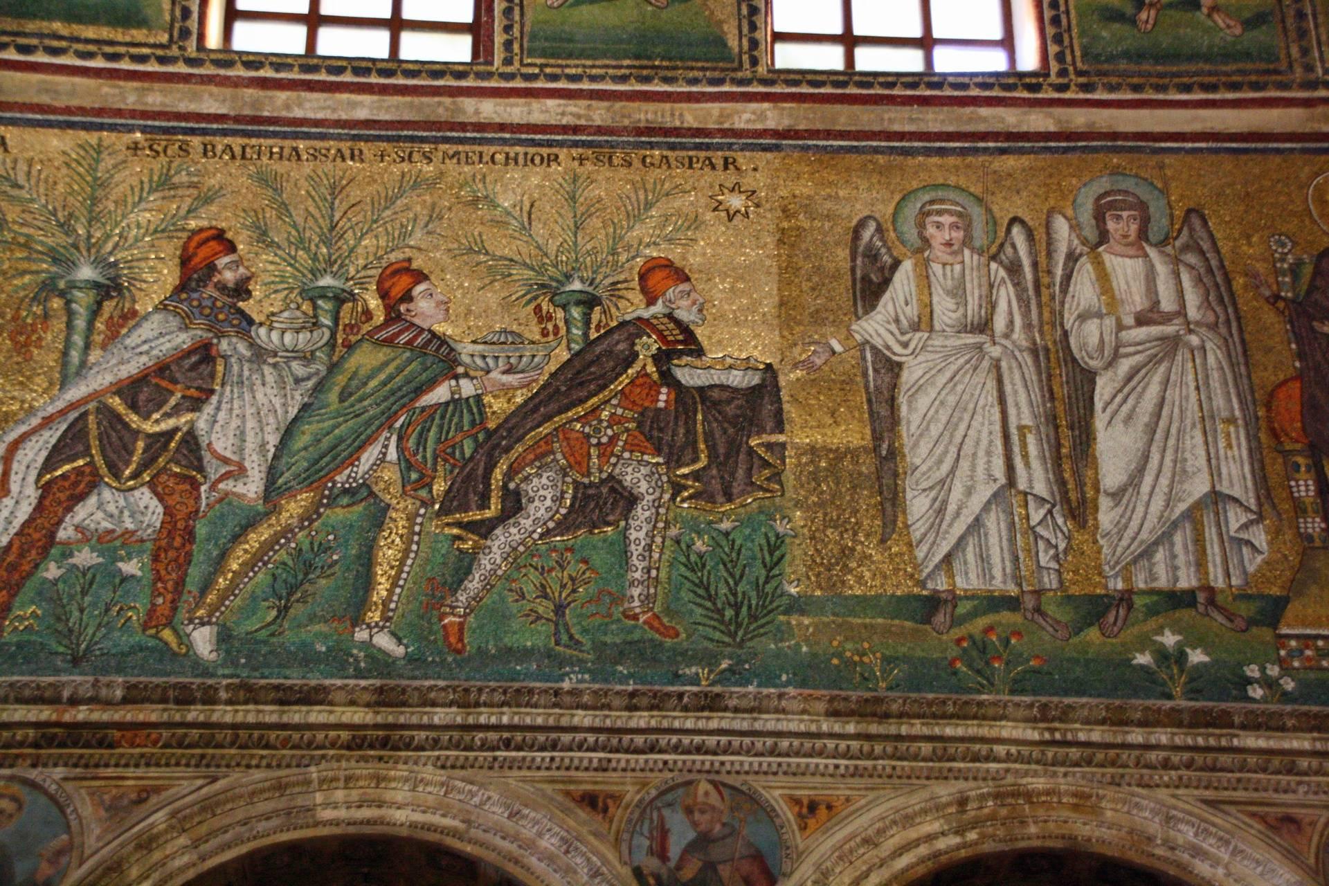 Mosaic in Basilica di Sant'Apollinare Nuovo in Ravenna