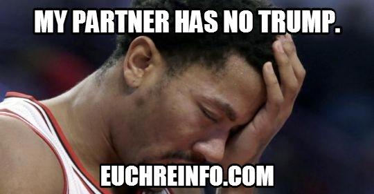 My partner has no trump