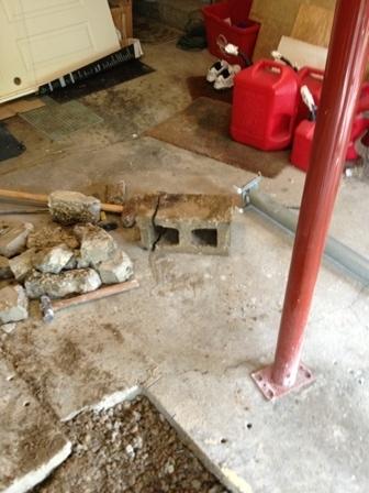 Concrete Block is crack