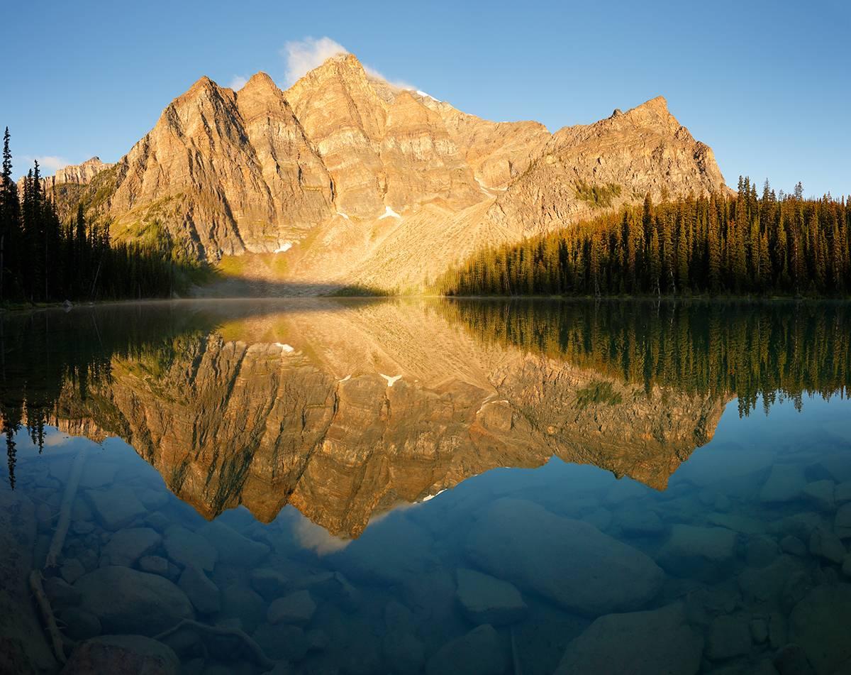 Storm Mountain Sunrise Reflection.