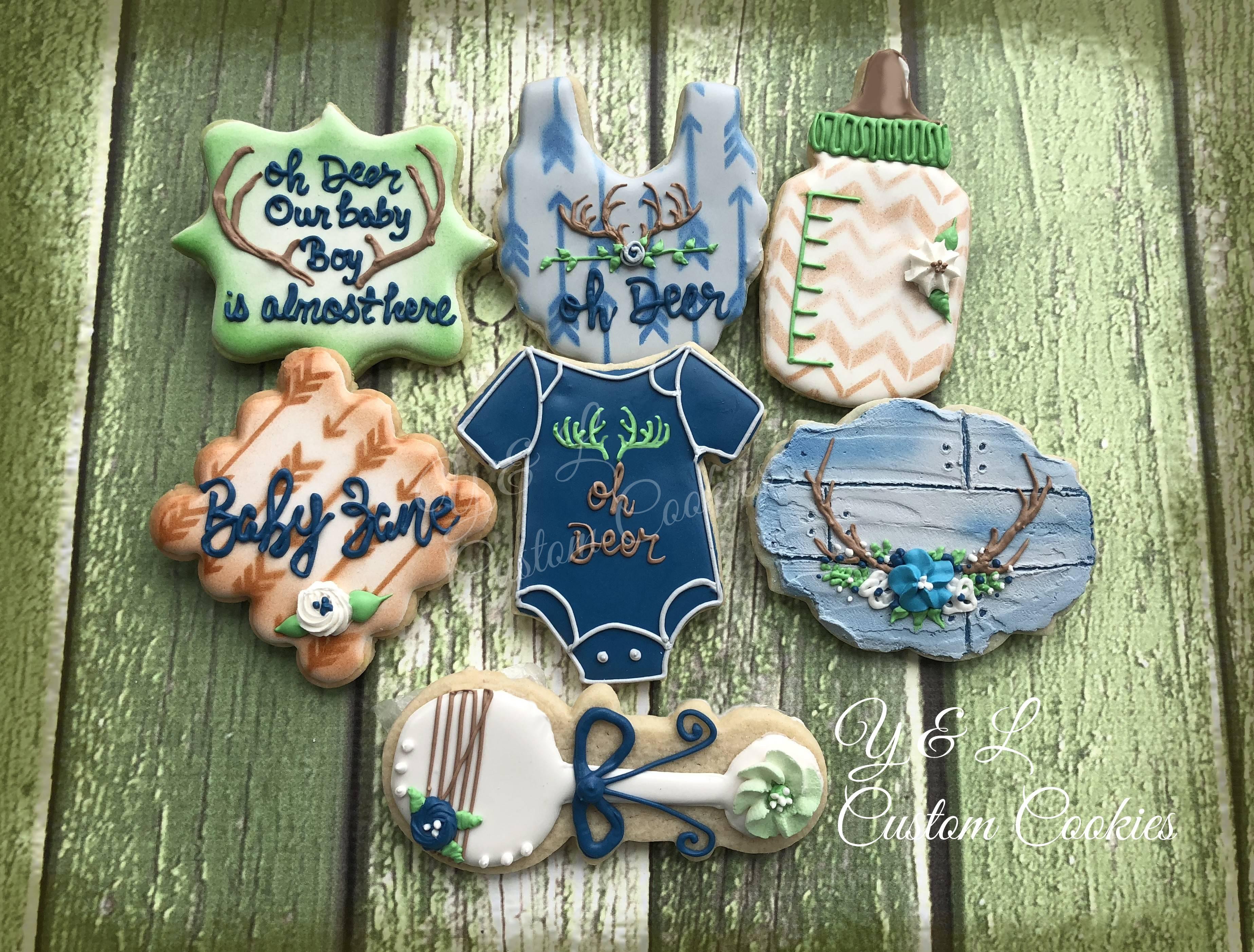 Baby Shower Custom Cookies Oh Deer theme