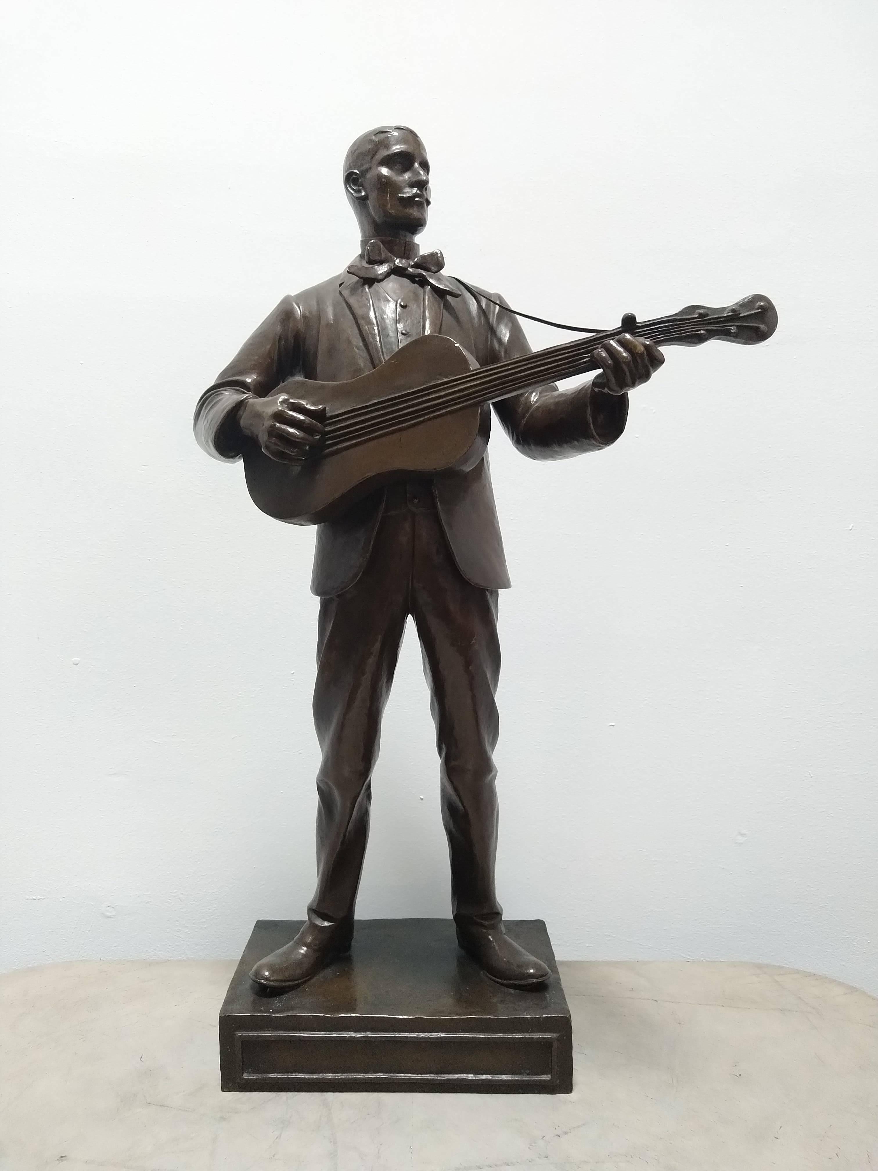 Le joueur de gitare Charles Spruyt 1907