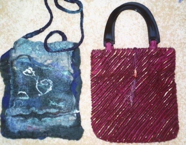 Two handmade bags