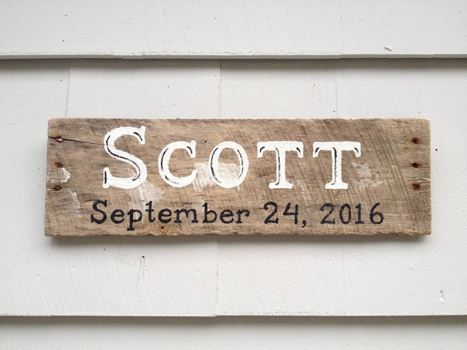 Last Name w/ wedding date sign