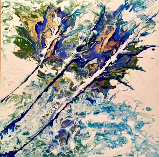Abstract trees in the wind