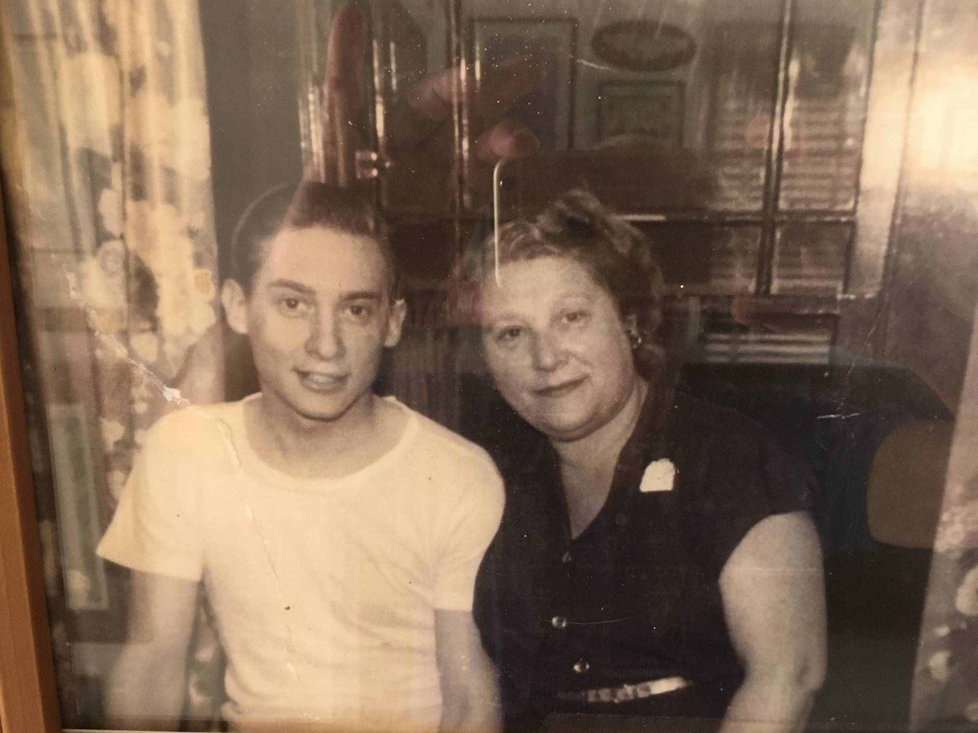 Irwin Stovroff with his mother