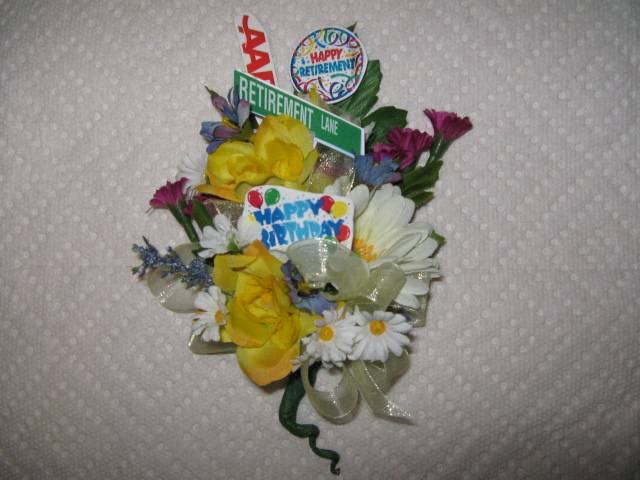 Corsage for birthday and retirement