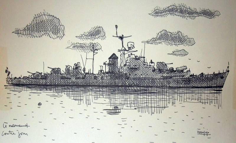 Le NORMAND en contre-jour 32 x 21 cm