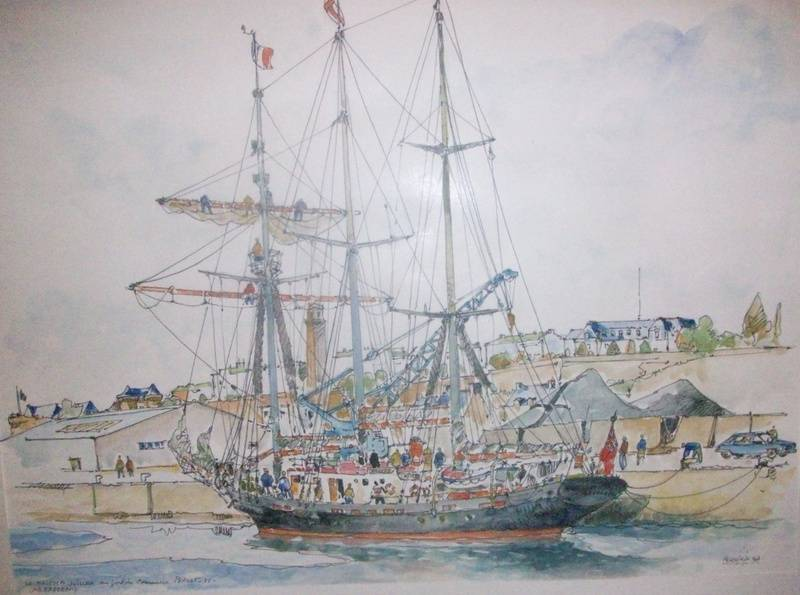 BREST Le MALCOM MILLER au port de commerce