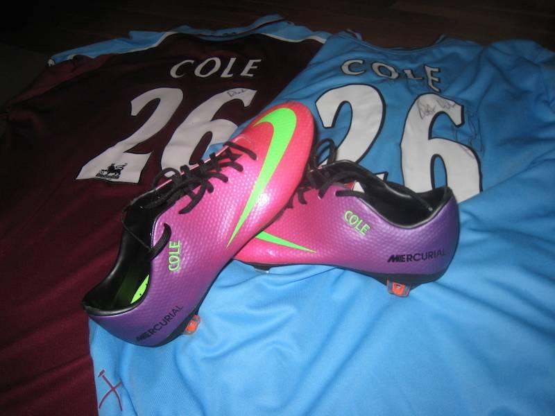 Worn Joe Cole boots