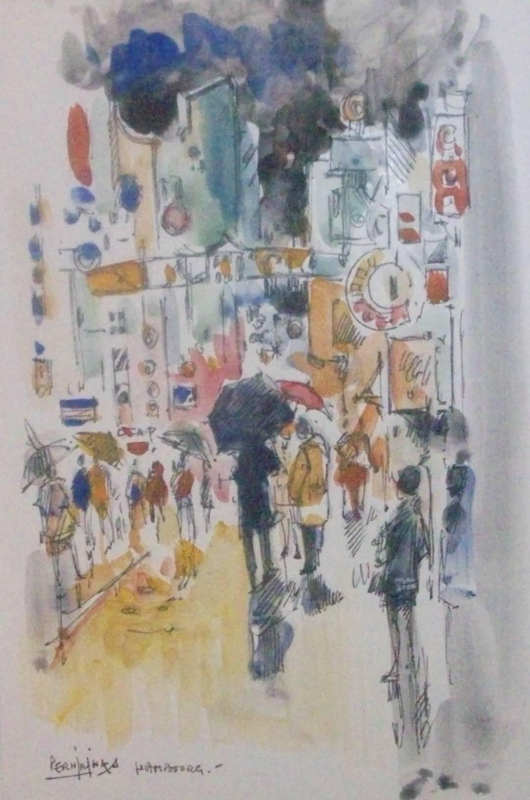 HAMBOURG   sous la pluie