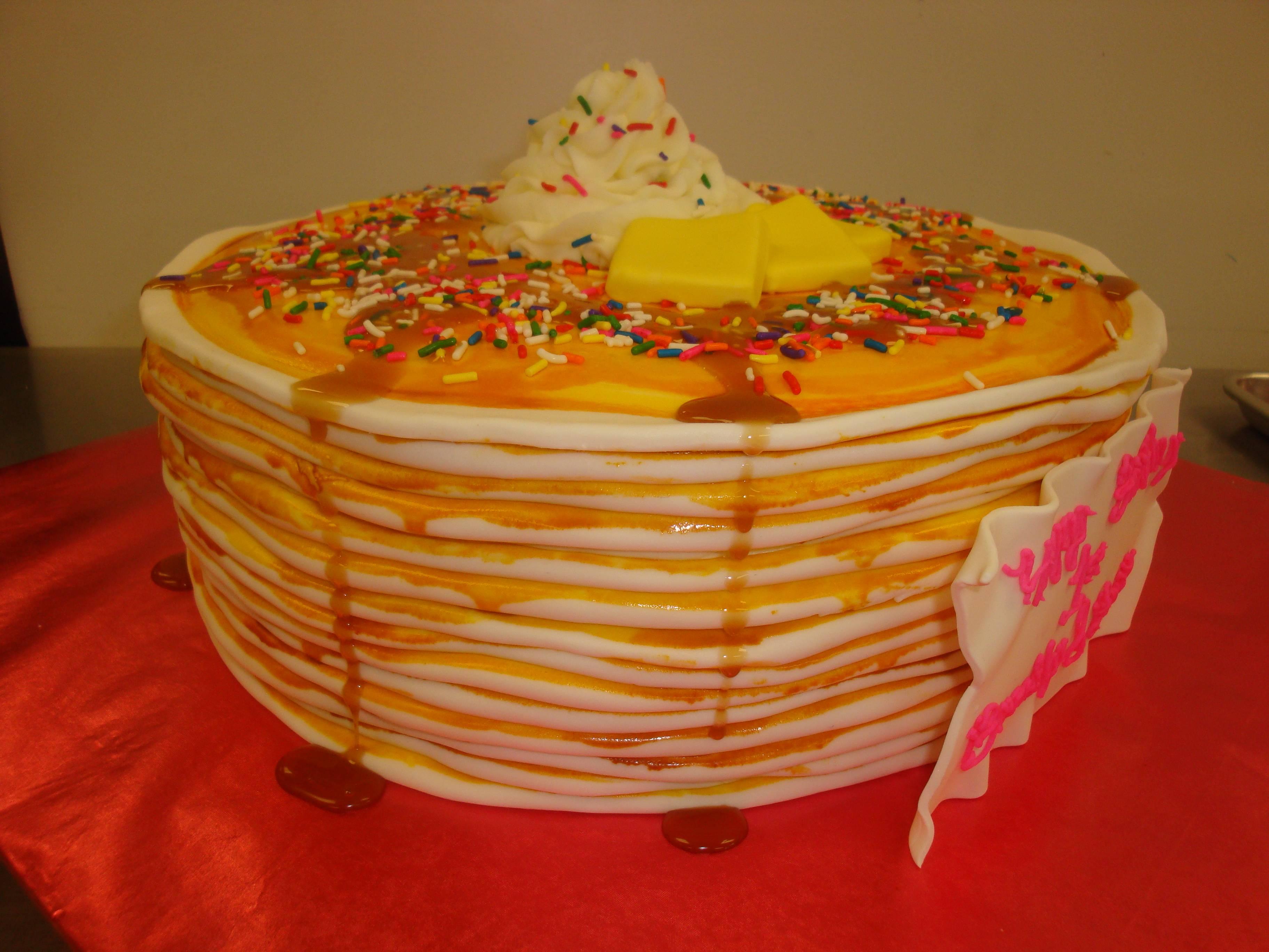fondant pancake stack $6/serving