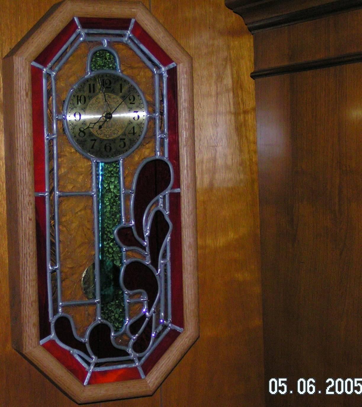 Oak Framed Geometric Clock