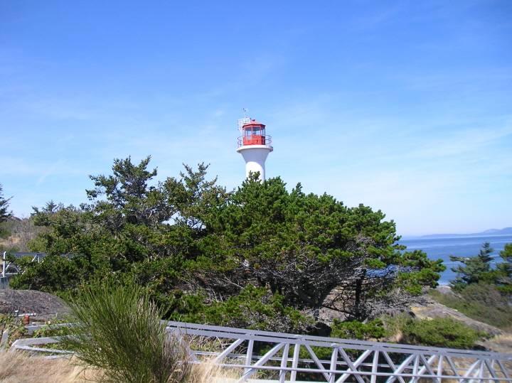 Discovery Island lighthouse.