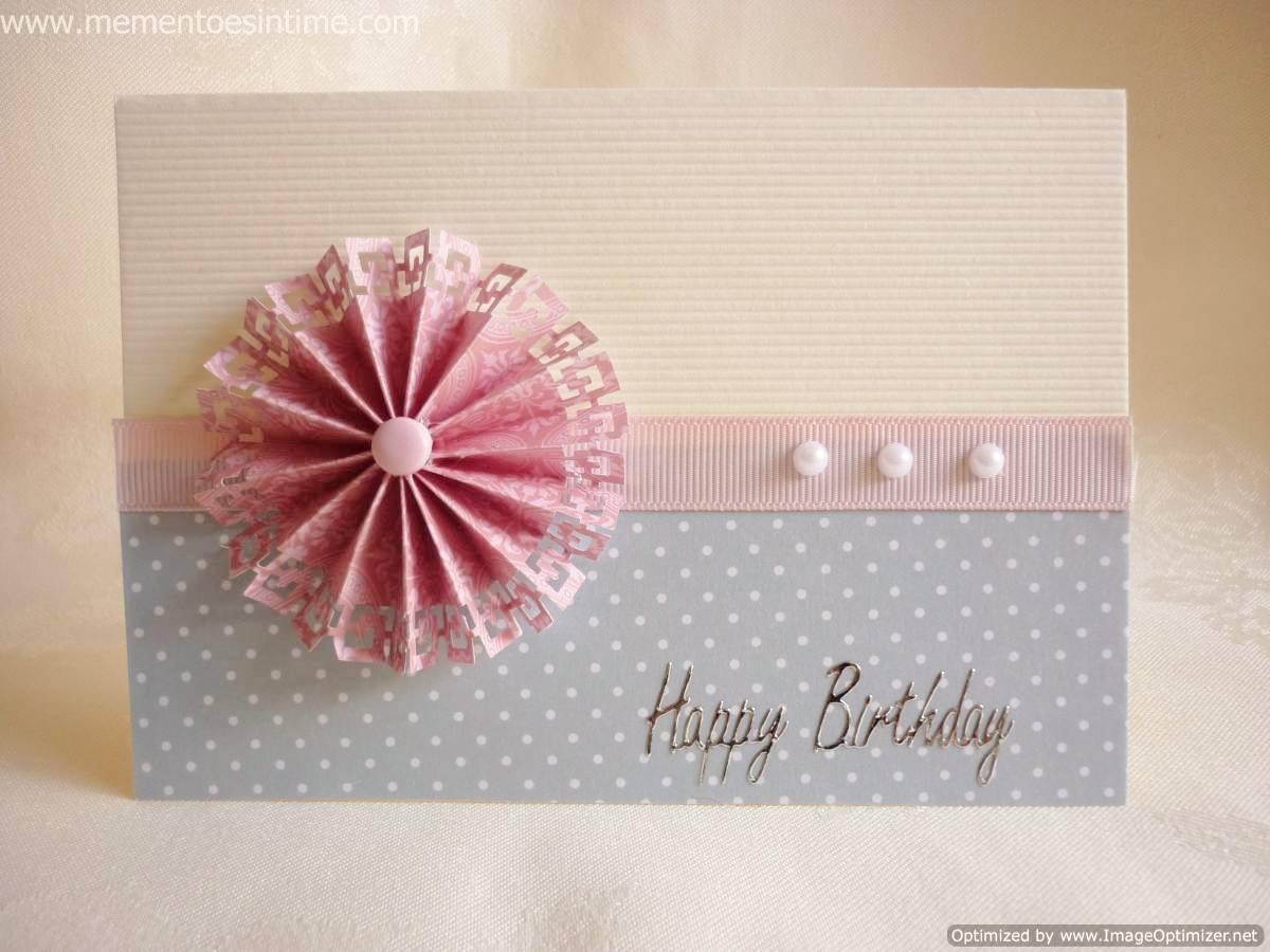Paper Rosette Flower Card