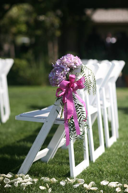 Simple Aisle Chair Decorations
