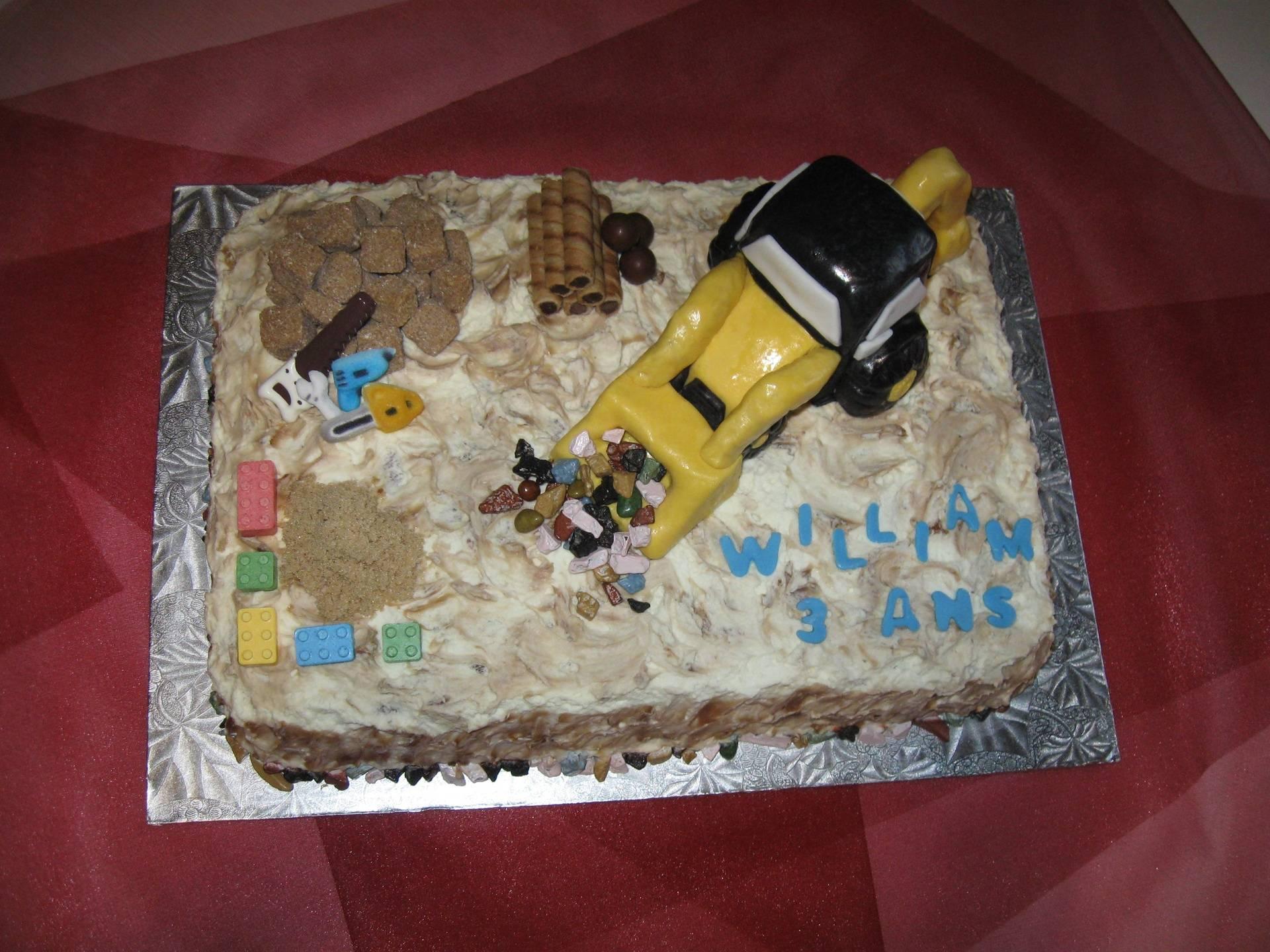 Gâteau pelle mécanique Construction