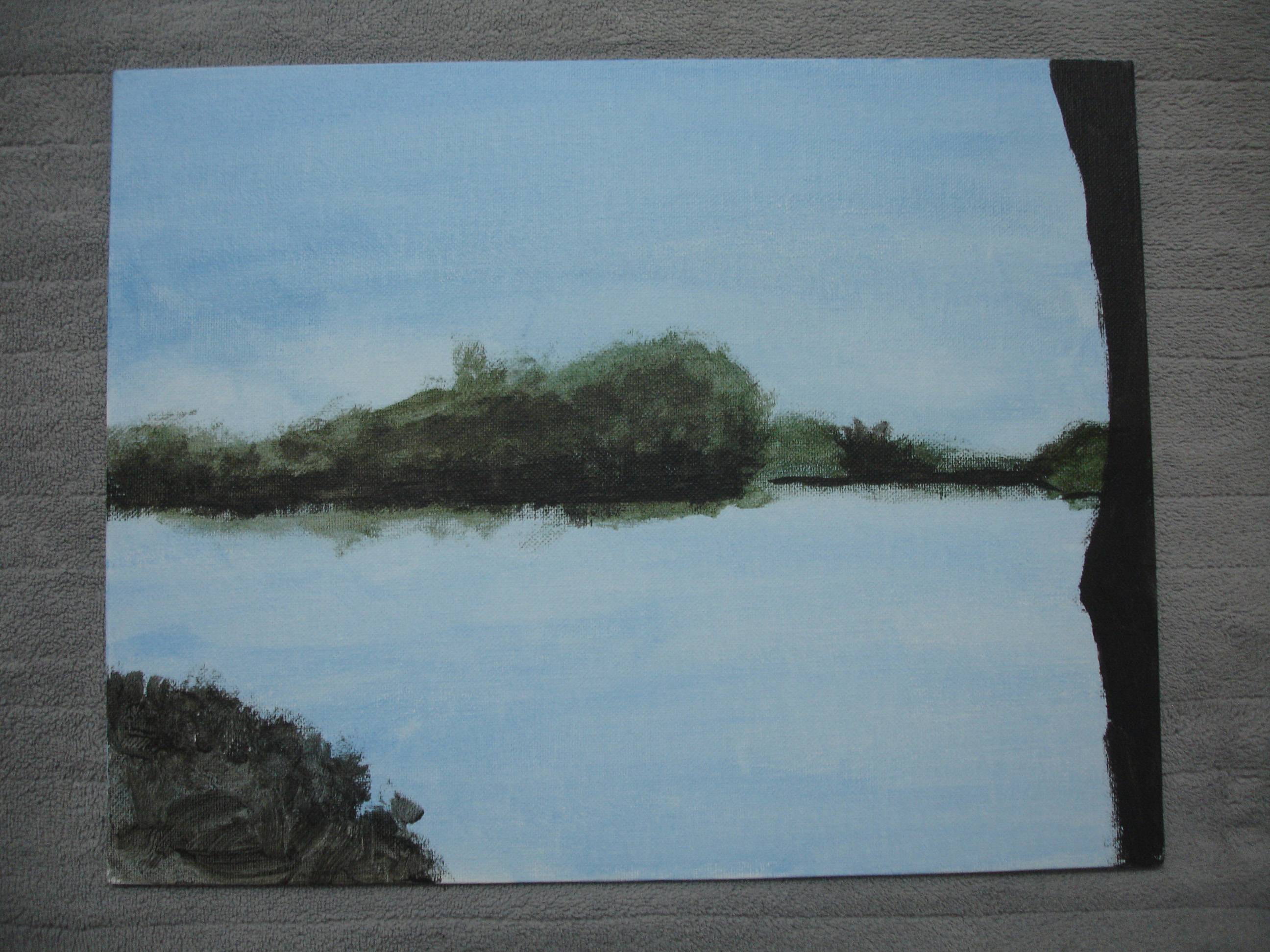 Another Hopedale Pond painting
