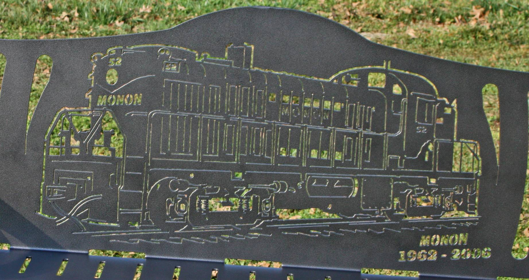 Detailed look at Monon bench
