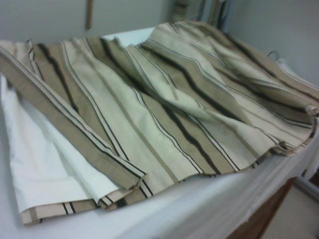 New boat drapes