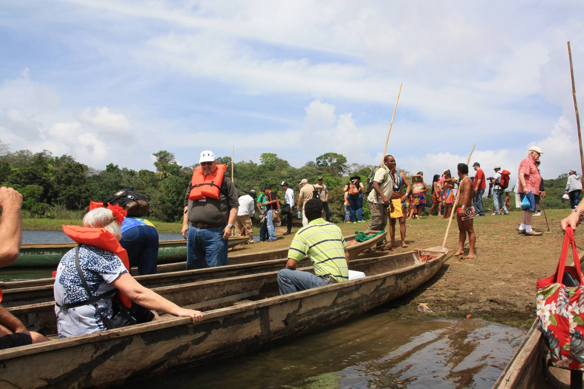 Return canoe ride at Embera Indigenous Village