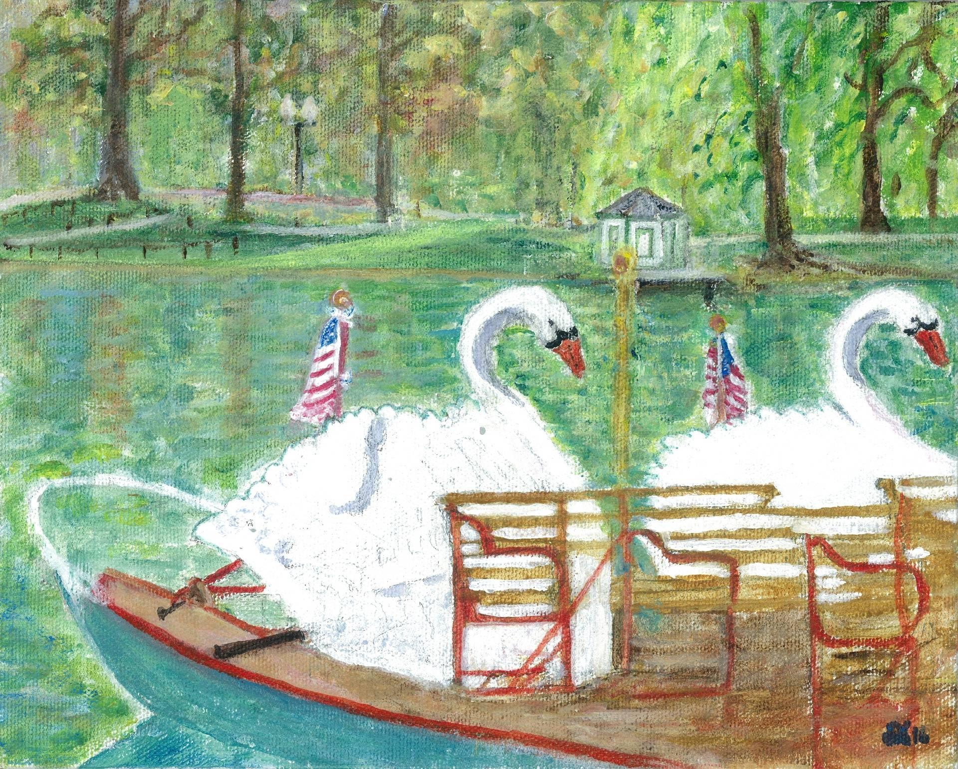 Historic Swan Boats - Boston Public Garden, Boston