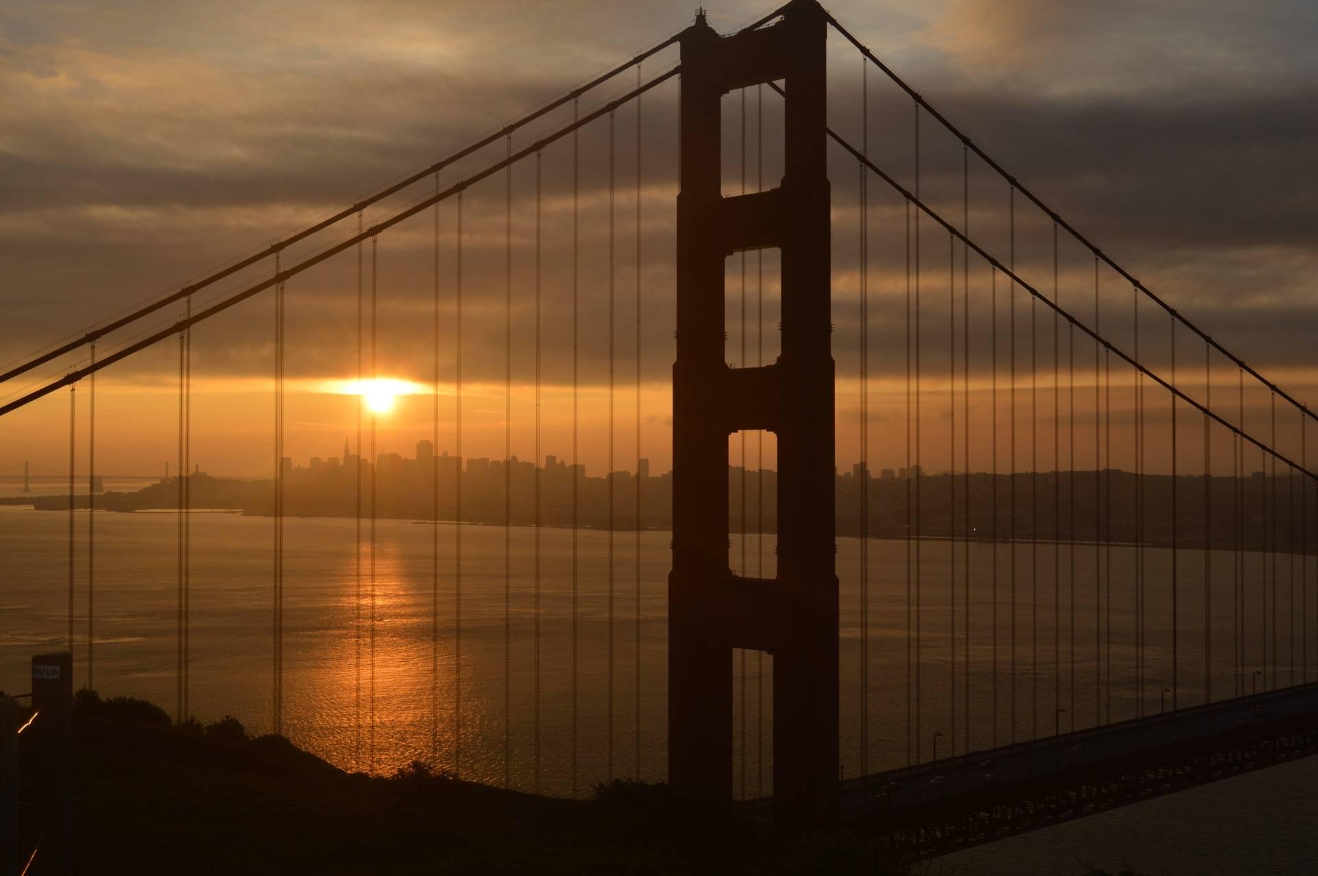Cognac skies over the Bridge