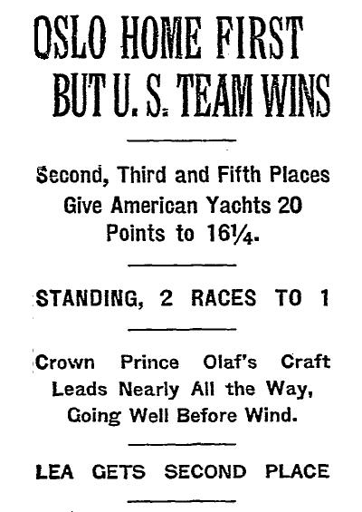 Olso Race Win, NY Times 19 Sept. 1925