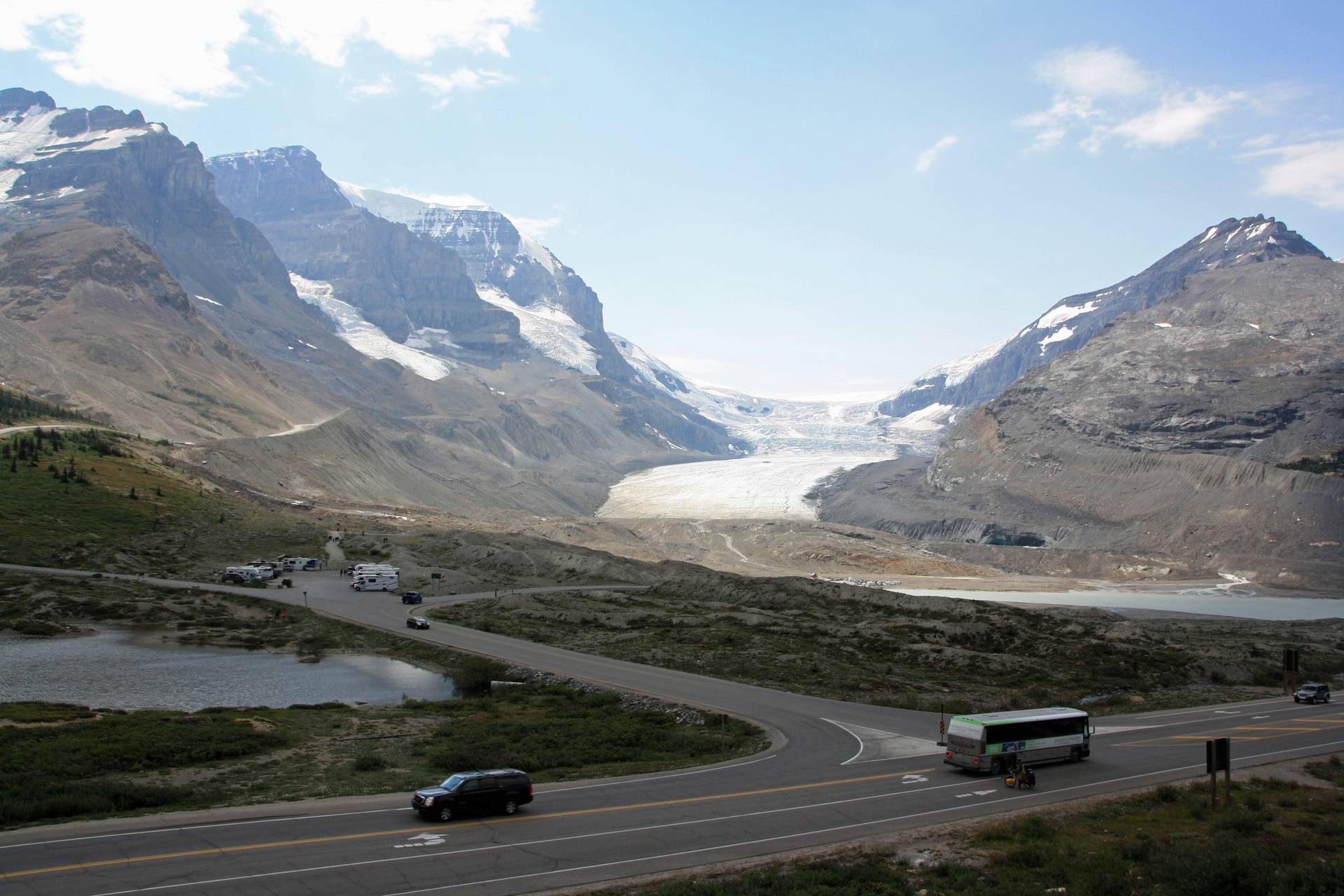 Athabasca Glacier and Columbia Icefield