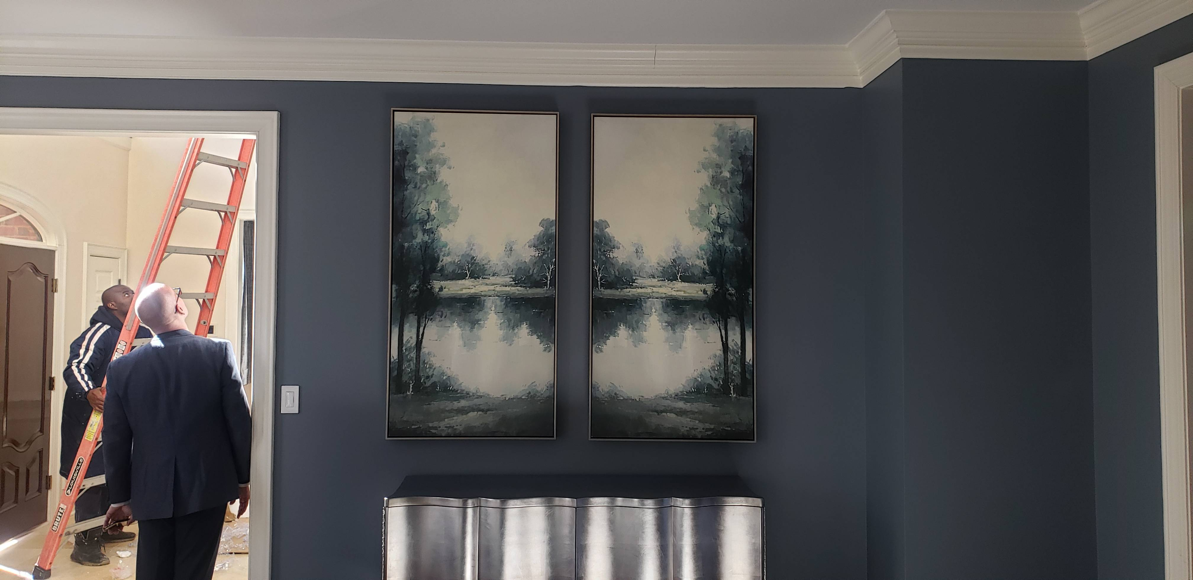 Picture hanging installation in leisure world MD