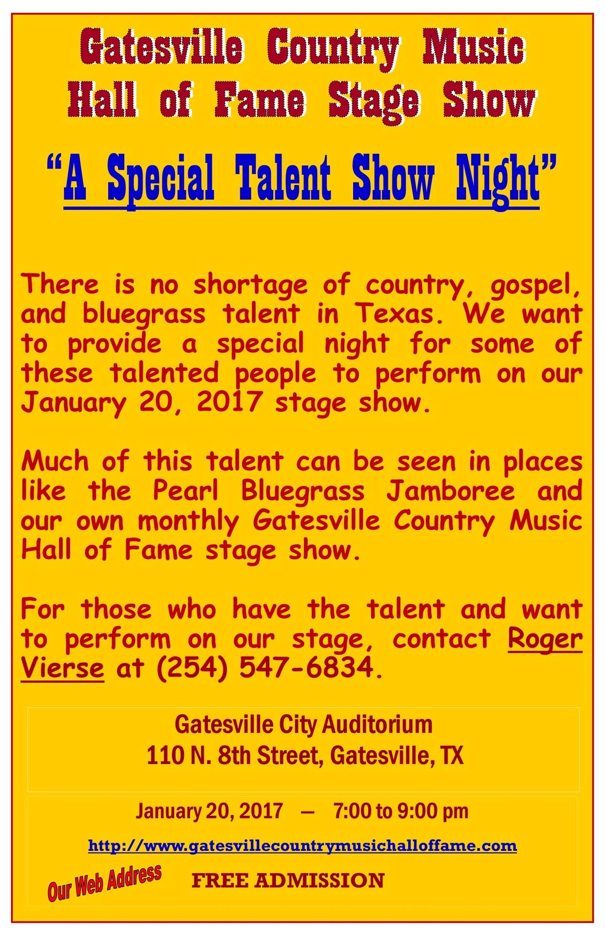 A Special Talent Show Night