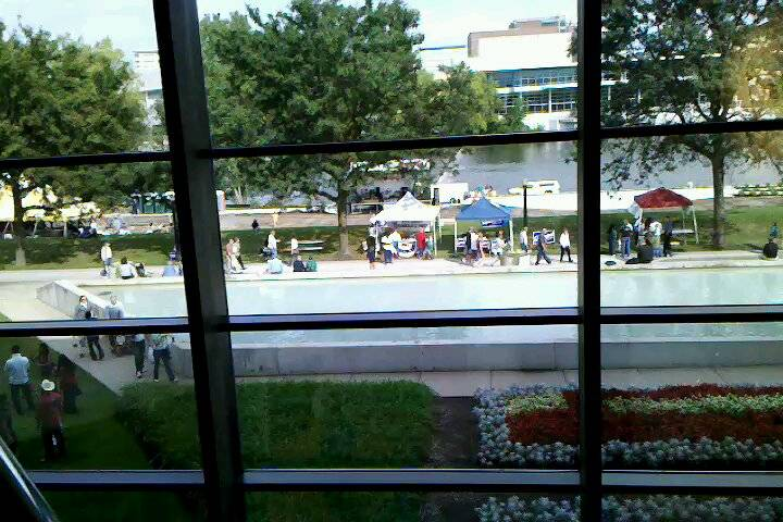 View from inside Ford Museum.