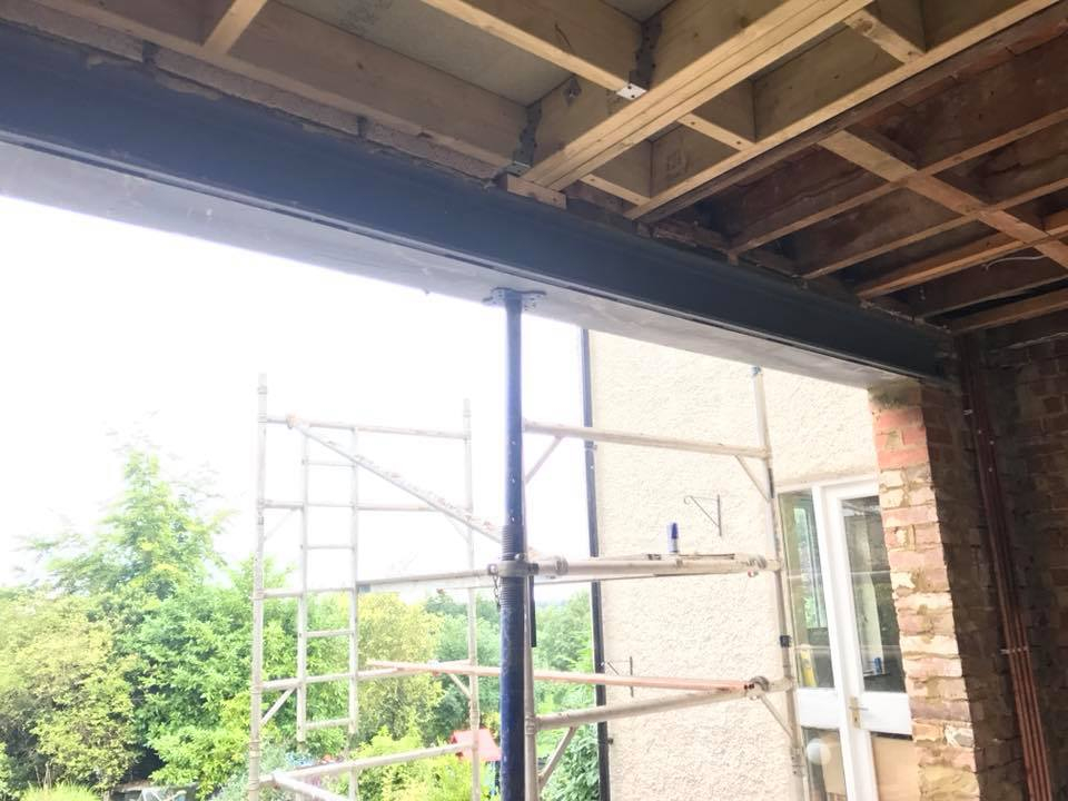 Rear Extension structural works