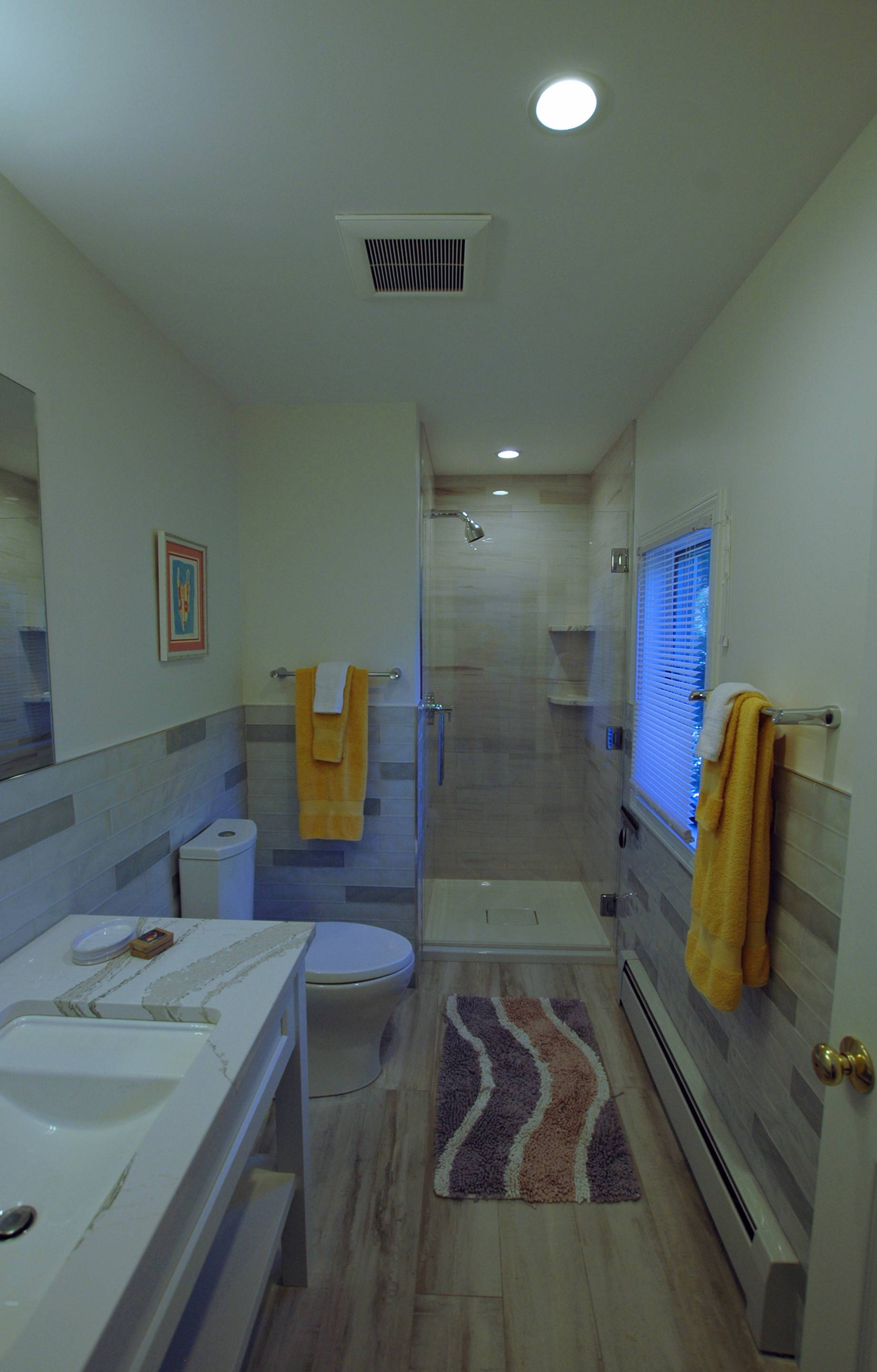 Second floor bath with shower.