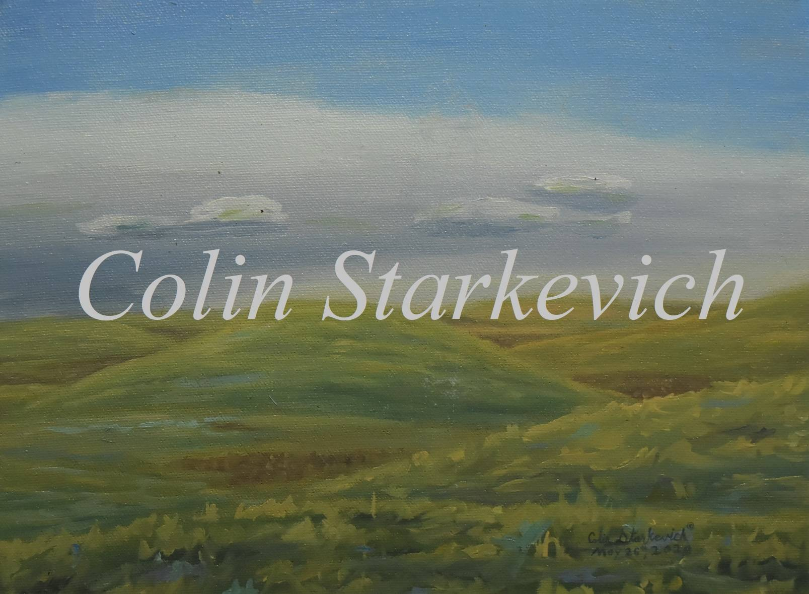 """Knolls in May (9 by 12"""" oil on canvas)"""