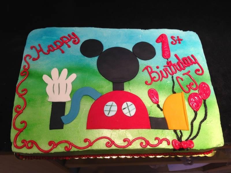 Mickey club House Cake