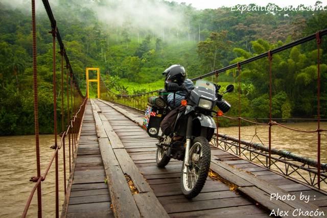 Crossing into the Amazon in Ecuador
