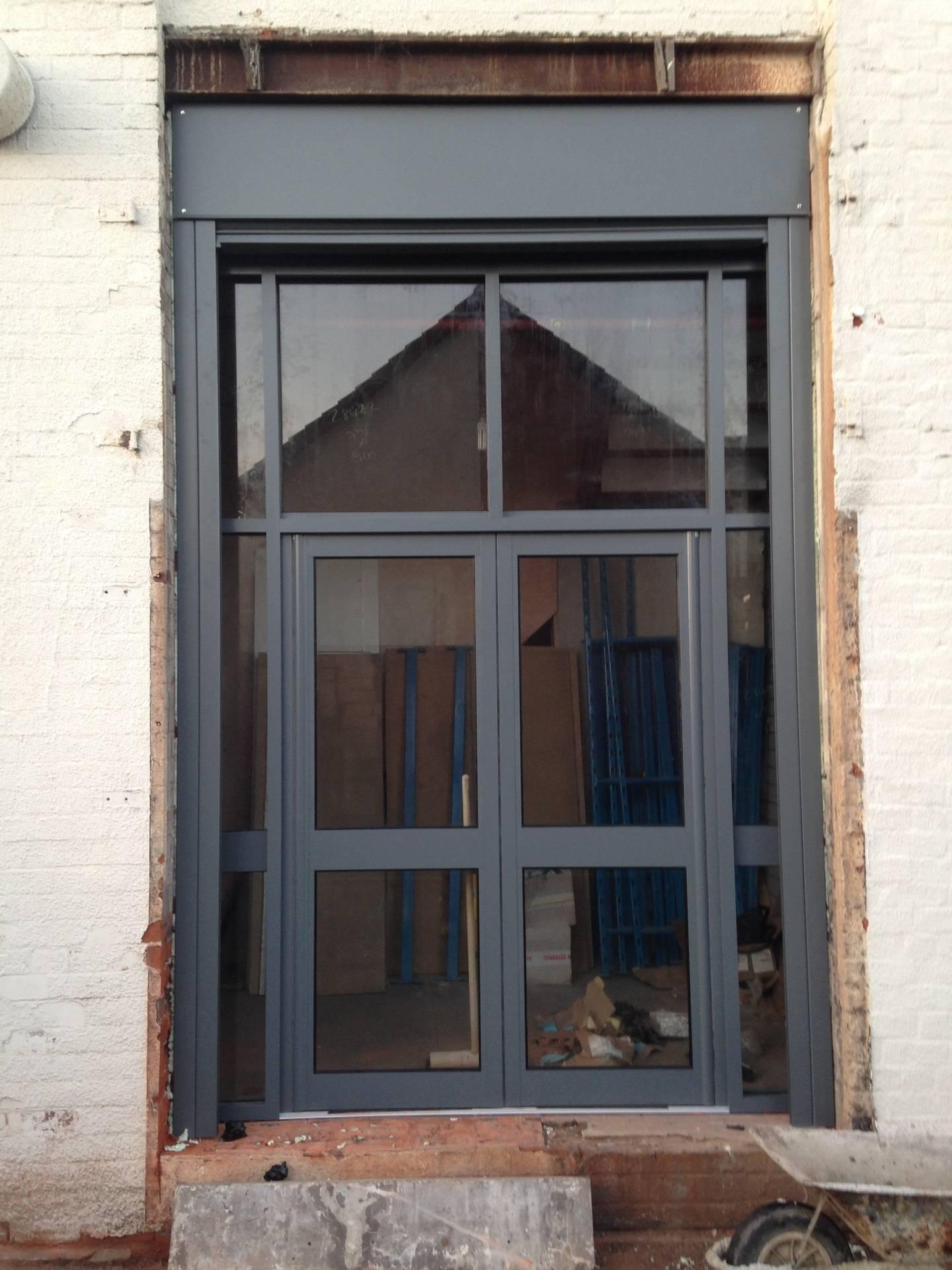 Site 2. New aluminium shop front.