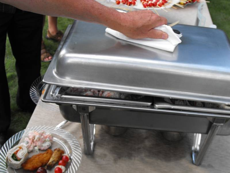 Chafing dishes available for a fee