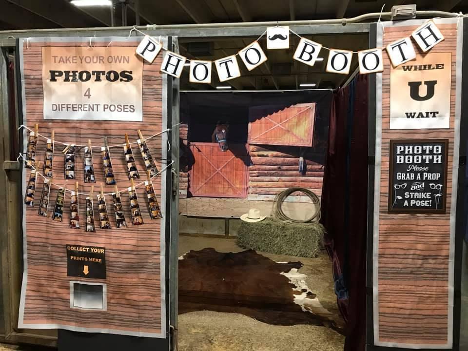 Photo booth. Great job everyone.