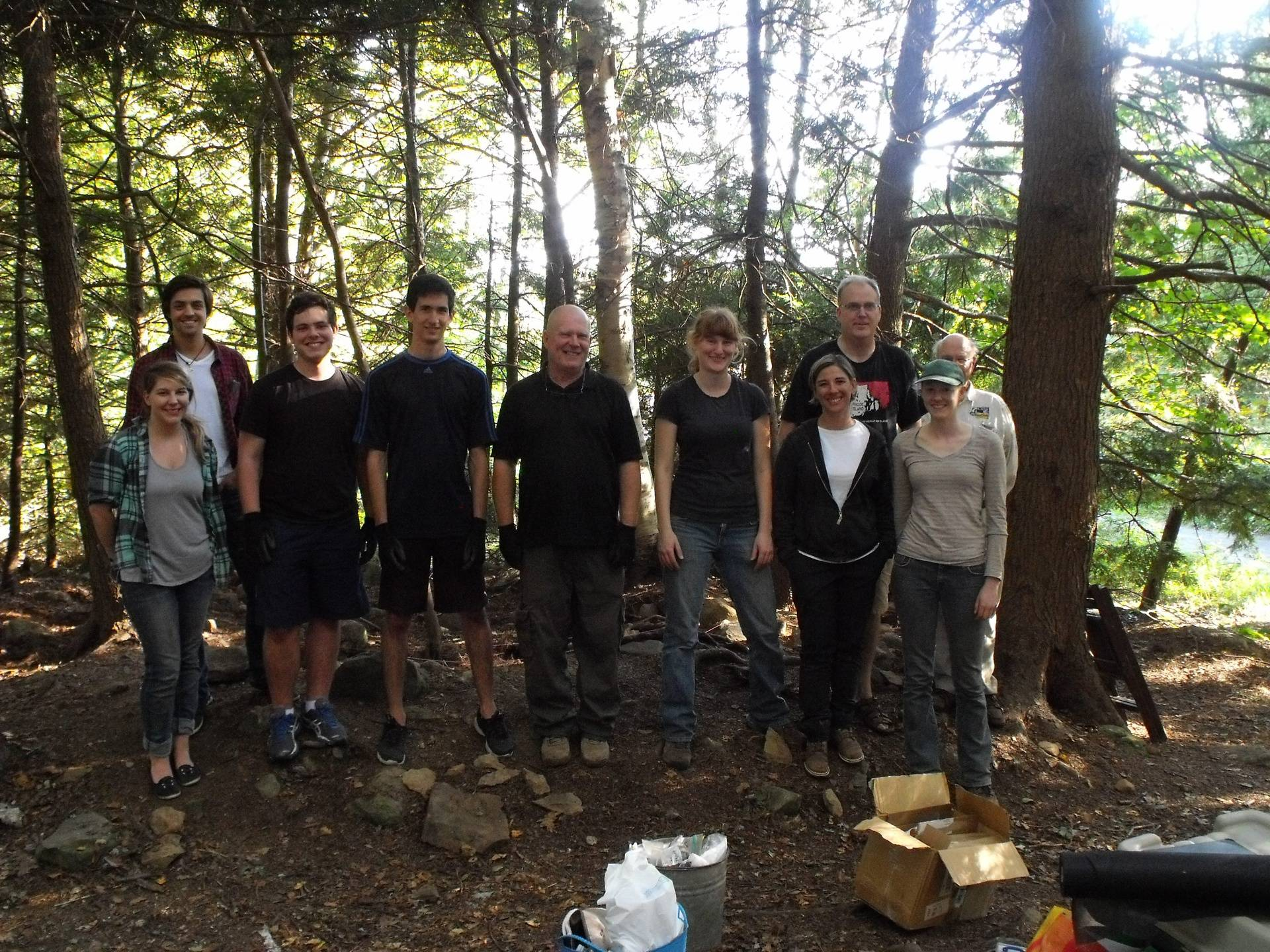 Our afternoon dig crew, minus a few early departures.
