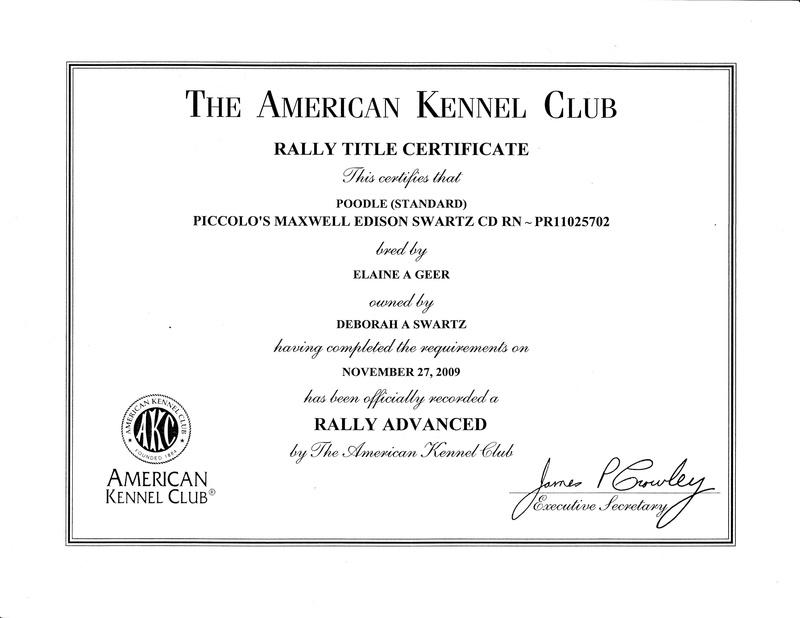 Maxwell RA title certificate
