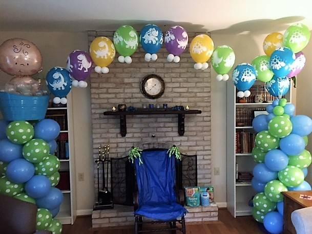 Boy Baby Shower Balloon Columns & Arch