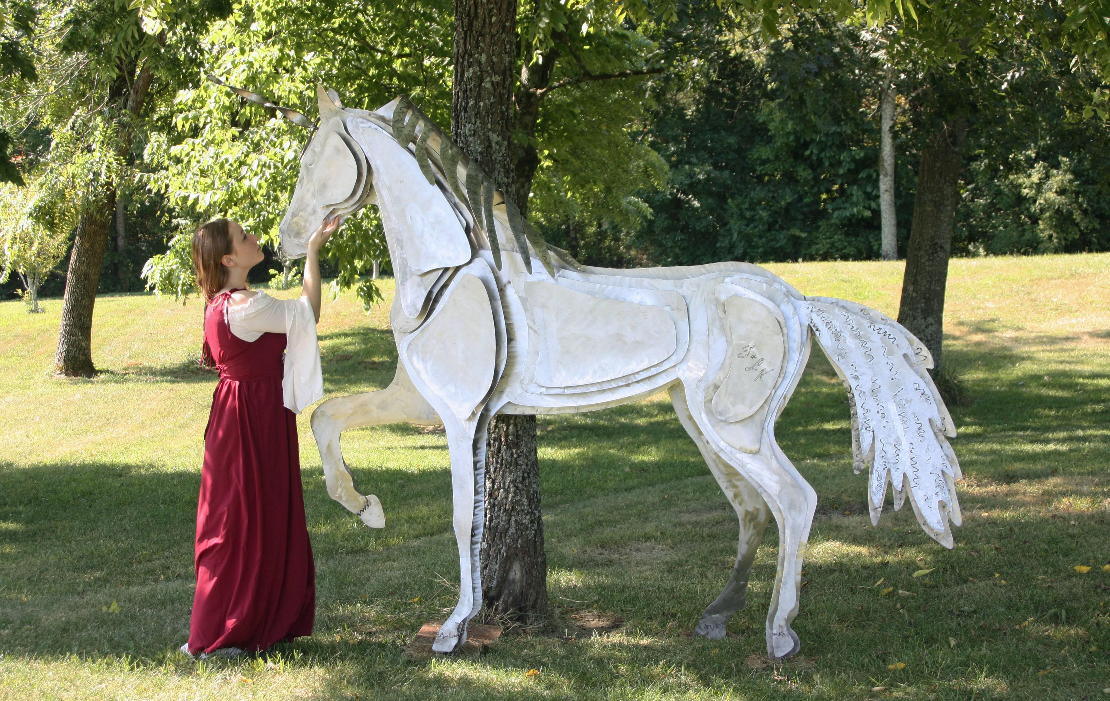 Life Size Stainless steel unicorn