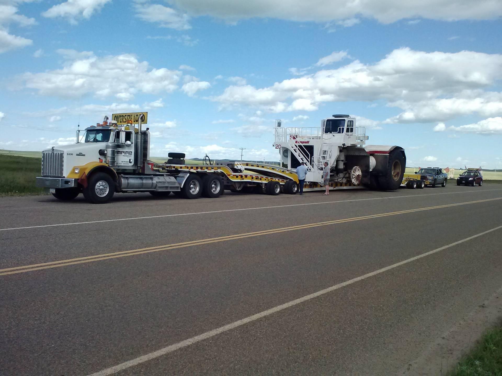 Coal tractor.