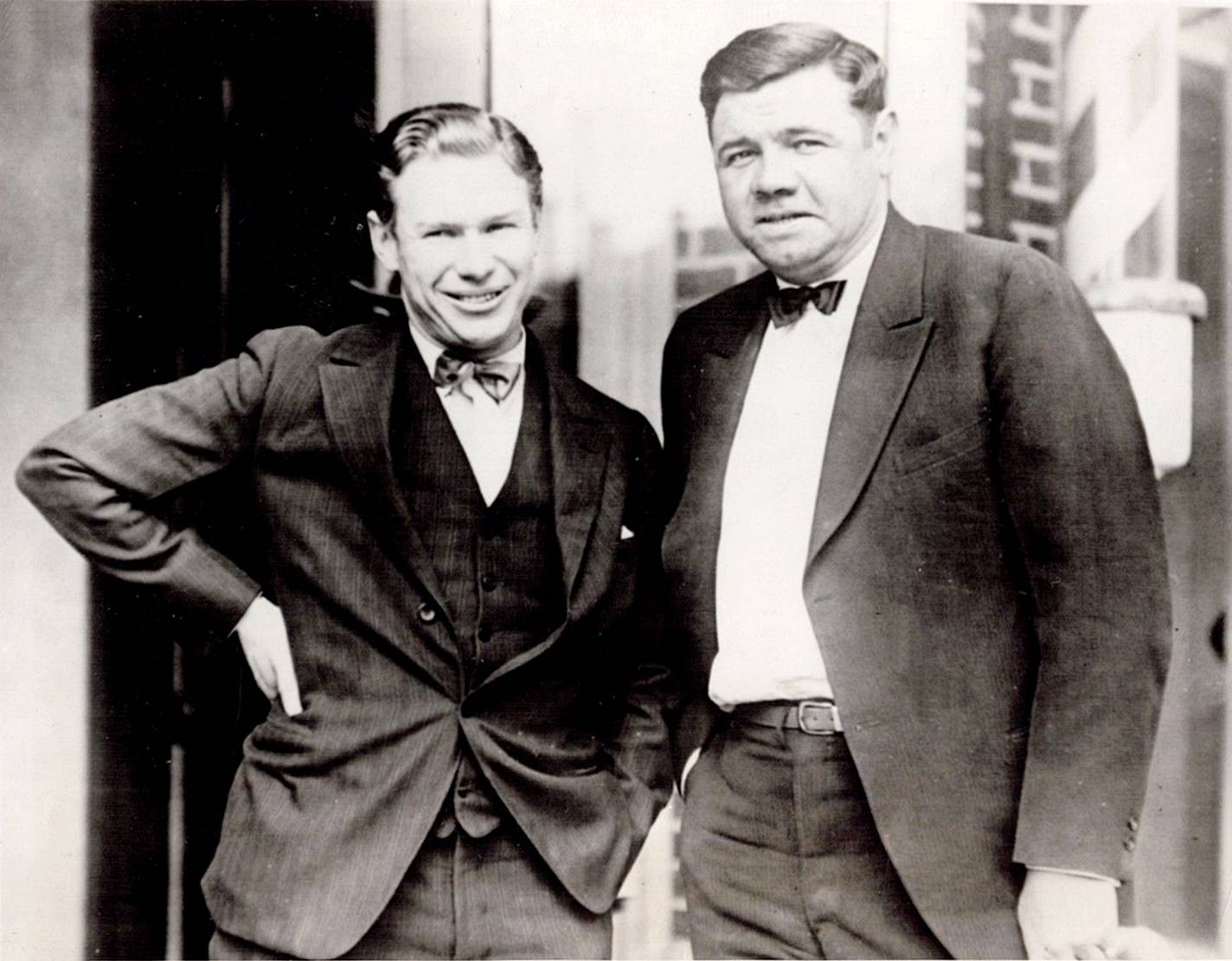 Babe Ruth and Charley Paddock