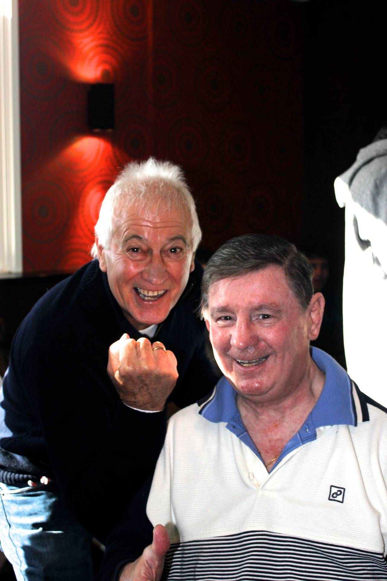 "Ron with ""the legend"" John Famechon"