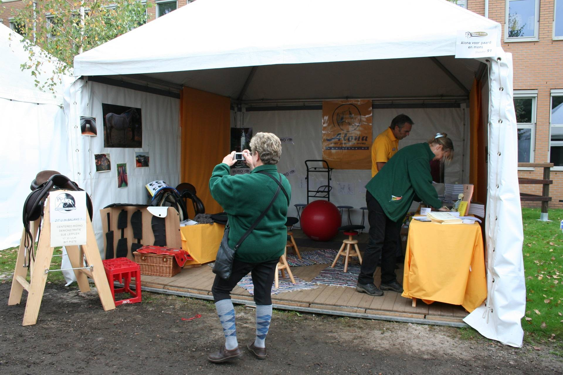 Alona and Centered Riding's Booth