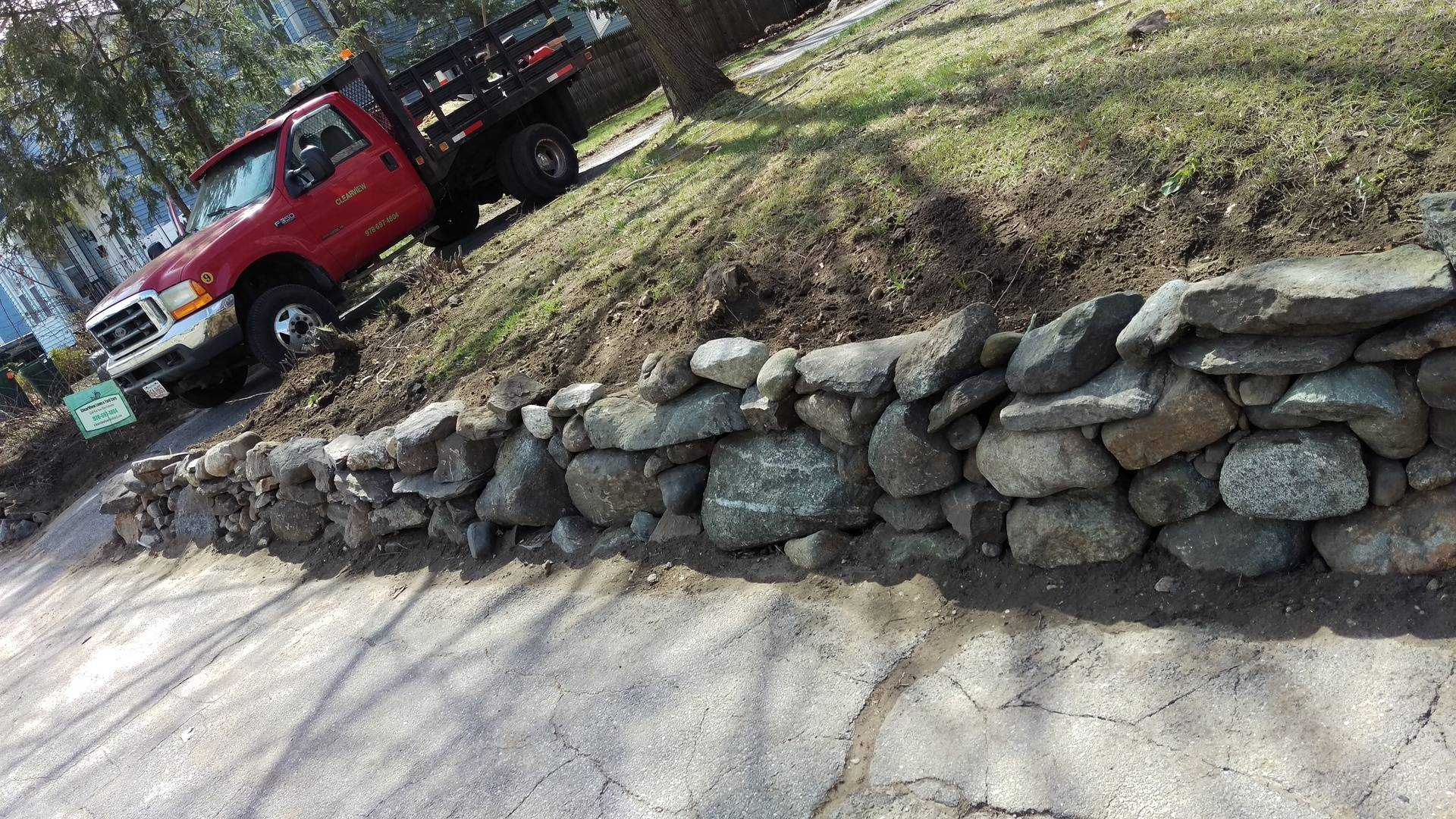 Landscaping Stone Wall